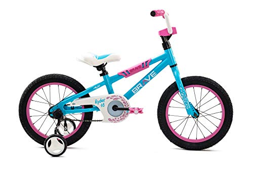Brave Freestyle BMX Kids Bike for Boys and Girls, 16 inch with Training Wheels, in Multiple Colors. Lightweight Aluminum Frame, Easy to Ride! (Blue)