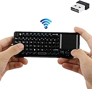 Miss flora Mini pc .UKB-100 Bluetooth Wireless Ultra Mini Keyboard with Touchpad for Mobile/PC/Presenter Use(Black)