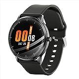 Iriisy Smartwatch, Reloj Inteligente Deportivo Impermeable IP67, con Monitoreo de Frecuencia Cardíaca, Pulsera de Actividad Inteligente con Monitor de Sueño, para Hombre Mujer y Niños (Negro)