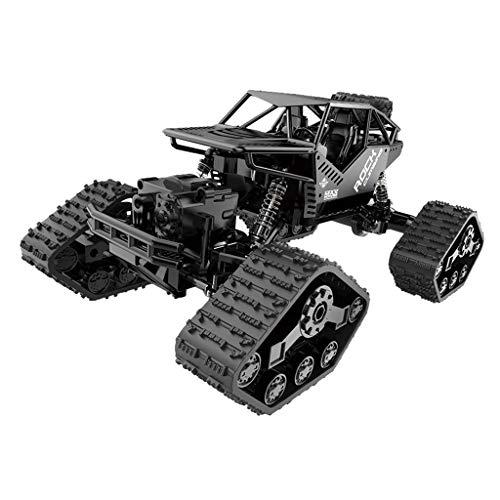 RC Auto kaufen Monstertruck Bild 4: RC Auto Ferngesteuert Fahrzeug 1/16 4WD Monster Truck Alloy Track Offroad Kletterwagen Desert Buggy Racing RTR Mit 2 x 1.5V AA Battery akku für Kinder und Erwachsene (Schwarz)*