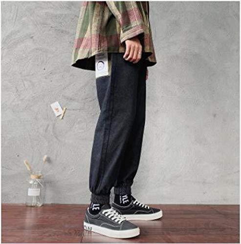 Vaqueros para Jeans Pantalones Pantalones Harem para Hombre Estiramiento Ajustado Slim Fit Cargo Pocket Wash Jeans Pantalones De Color Negro/Azul Pantalones Casuales De Trabajo P
