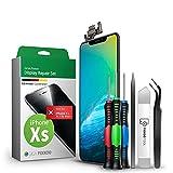 GIGA Fixxoo Set Display per iPhone XS | Kit di Riparazione Completo con Kit di Attrezzi, Schermo di Ricambio, Display Retina LCD con Touch Screen (Come Display Originale)