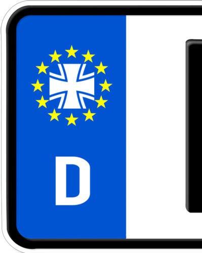 HR-WERBEDESIGN 2X Aufkleber Eisernes Kreuz Totenkopf Nummernschild Kennzeichen Bundeswehr Iron
