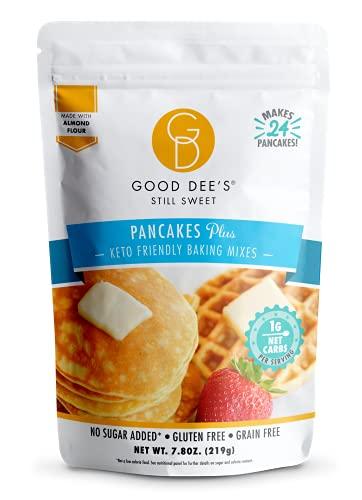 Good Dee's Pancake, Waffle & Scone Mix | Keto Baking Mix | Allulose Sweetened, Gluten-Free, Grain-Free, Soy-Free, & Low Carb Pancake Mix | Diabetic, Atkins & WW Friendly (1g Net Carbs, 24 Pancakes)
