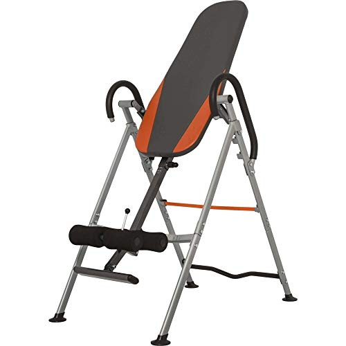 GORILLA SPORTS Inversionsbank klappbar Schwarz/Orange/Grau – Rückentrainer bis 110 kg belastbar