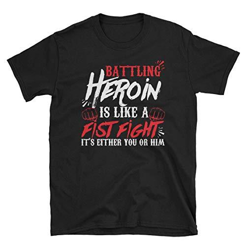 Drug Recovery Shirt, Heroin Shirt, Anti Drug Shirt, Overdose Awareness T-Shirt (S) Black