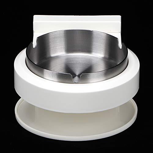 Weikeya Posacenere di Sigaretta Forte, 14,5 x 13 x 7,5 cm Materiale di qualità di plastica e plastica per Il Bagno Uso della Toilette (Argento)