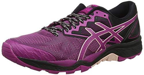 Asics Gel-Fujitrabuco 6, Zapatillas de Running para Asfalto Mujer, Morado (Baton Rouge/Seashell Pink/Black 3217), 37 EU