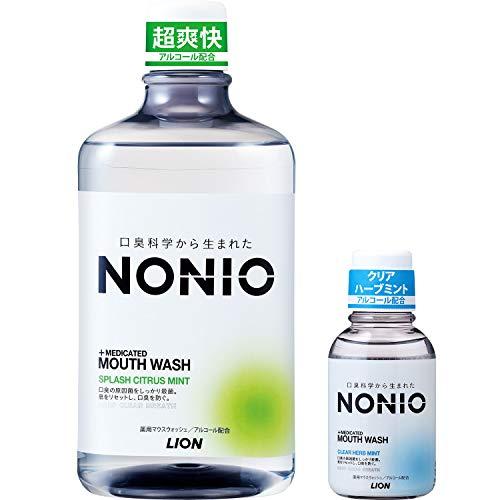 【Amazon.co.jp限定】NONIO(ノニオ) [医薬部外品] 口腔開始シトラスミントマウスウォッシュセット1,000ml +ミニリンス80ml