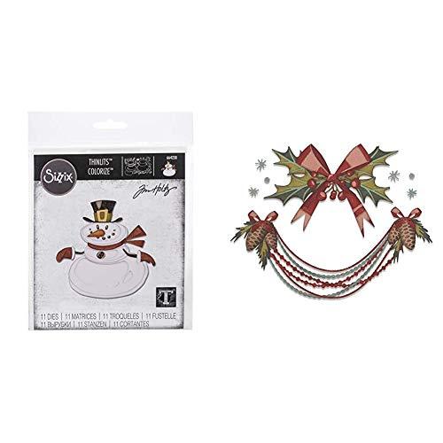 Paquete de Navidad Sizzix — Muñeco de nieve y Deck the Halls...