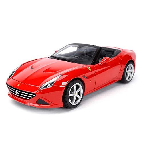 hclshops Coche Modelo del Coche de Ferrari California 1,18 Simulación de aleación de fundición de joyería Juguete Sports Car Collection 26x11.3x6.2CM joyería (Color, Rojo A), Rojo una