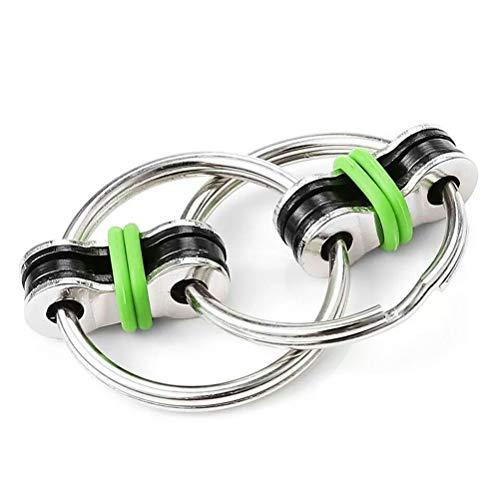 Susian Chain Fidget Toy, Dekompressionskette Key Ring Fidget Bike Chain Keychain Metall Handfingerspielzeug für Erwachsene und Kinder, Stressreduzierer, Angst & ideal für Add, ADHS & Autismus