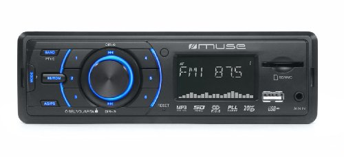 Muse M-090 MR - Radio para coche, color negro