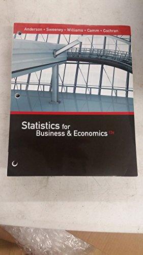 Statistics for Business & Economics, Loose-leaf Version