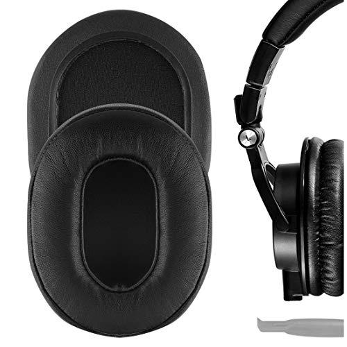 Geekria Elite - Almohadillas de piel de oveja para auriculares Audio Technica ATH-M50X ATH-M40X ATH-M30X ATH-M20X ATH-M10X, almohadillas de repuesto para auriculares