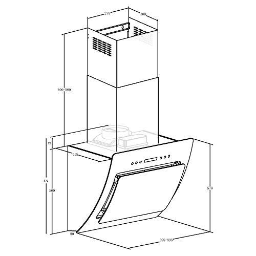 NEG Dunstabzugshaube KF641 (Abluft/Umluft) Kopffreihaube mit Glas - 6
