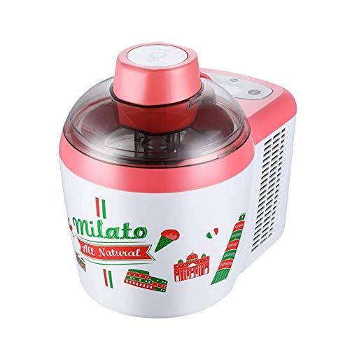 Gelato Milkshake Frozen Yoghurt Maker, Máquina de Fabricante de Helados Duros Suave, Maker de Helado eléctrico con congelador Build HMP (Color : A)
