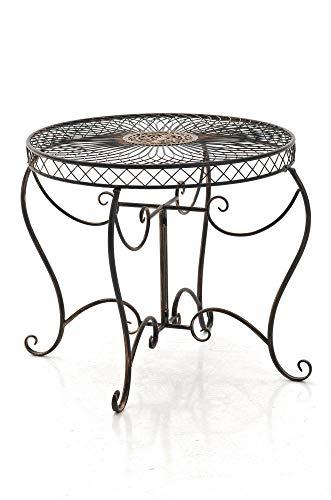 CLP Eisentisch Sheela im Jugendstil I Gartentisch mit geschwungenen Beinen und kunstvollen Verzierungen I erhältlich, Farbe:Bronze