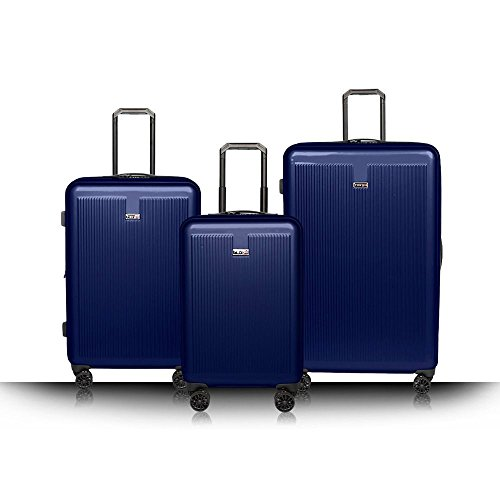 Revo Luna Hardside 3 Piece Luggage Set Spinner Navy Made in the USA!