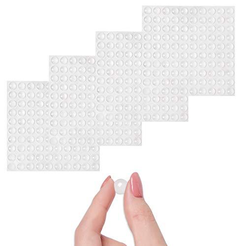 Topes Adhesivos Transparentes, 400 Piezas Pies de Goma Transparentes, Reutilizable Material Nuevo, Lagrimas de Silicona, Gotas Silicona Adhesivas, Para Amortiguación de Ruido y Protector Antigolpes