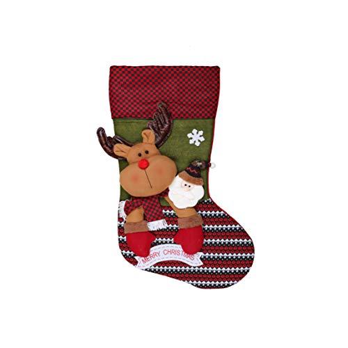 Christmas UK Calza di Natale Gigante con Design 3D – Oltre 75 cm di Lunghezza.