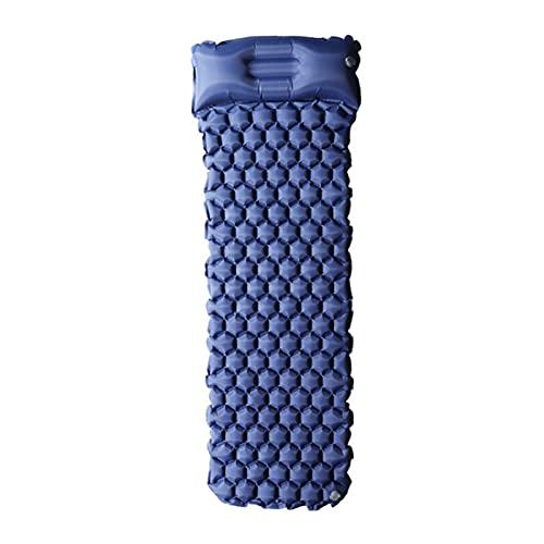 QWSA Mat de Playa Camping Pie Inflable Almohadilla para Dormir Bolso de Dormir Cojín de Aire Equipo de Actividad al Aire Libre Picnic a Prueba de Humedad (Color : A Blue, Size : 23271CM)