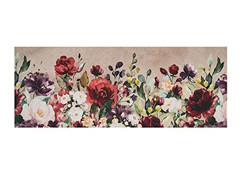 BiancheriaWeb Tappeto Cucina Antiscivolo Stampa Digitale Emozioni Fantasie Floreali Varie 58x140 Aida