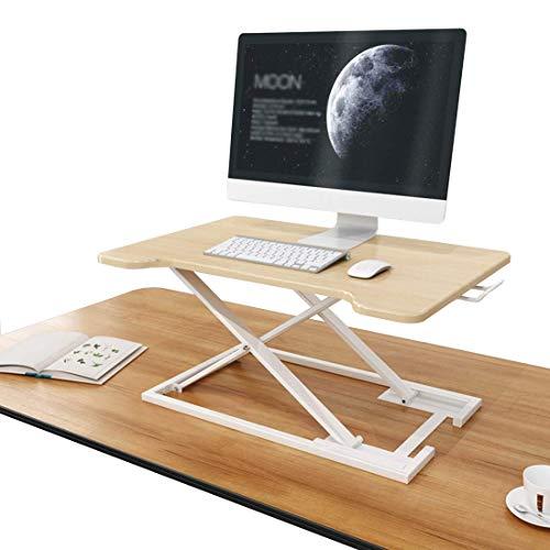 Mesa de pie ajustable, convertidor elevador, bandeja de escritorio, 75 cm × 50 cm plataforma ergonómica oficina en casa trabaja.