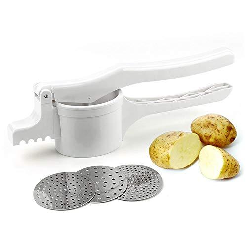Morningtime - Schiacciapatate in plastica con 3 Inserti intercambiabili in Acciaio Inox per purè cremosa, Patate, Verdure e Frutta
