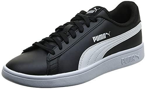 PUMA Unisex Smash v2 L Sneaker, Black White, 42 EU