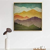 オールドムースベアカウマウンテンウォールアートレトロキャンバス写真リビングルームの家の装飾ボートステアリングホイールアンカーヴィンテージポスター20x20CMフレームレスdWhite