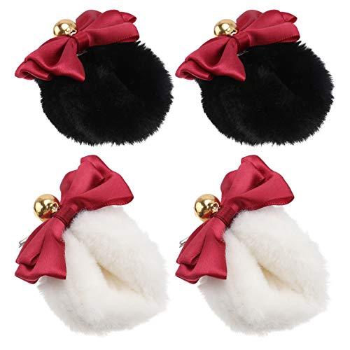 PIXNOR Pinza para El Pelo Orejas de Gato Orejas de Zorro Orejas Largas de Piel Pinza para El Pelo Orejas de Animal Pin para El Cabello Tocado Cosplay Anime Lolita para Disfraz de Niñas 2