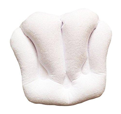 Gonflable en PVC Bath Spa Pillow serviette douce Tissu Soaker Tub Coussin-Blanc