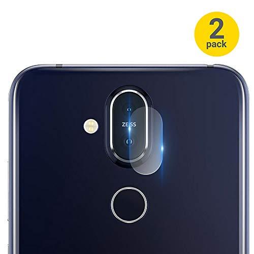 Olixar Vetro temperato Protezioni per Fotocamera Compatibile con Nokia 8.1-Phone Obiettivo Protezione-Confezione da 2