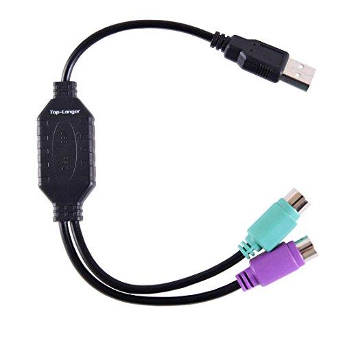 Top-Longer USB auf 2X PS/2 Adapter für Tastatur und Maus - USB-PS/2-Konverter