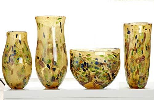 Soma Gilde glaskunst buikvaas Primavera (BxHxD) 0 x 36 x 0 cm meerkleurig/groen, doorgeverfd, mondgeblazen