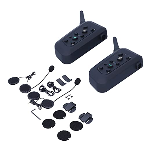 VNETPHONE V6 Auriculares Intercomunicador Manos libres Full Duplex MP3 Teléfono inalámbrico Walkie-Talkie Reproductor de música estéreo para casco de motocicleta