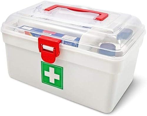Maharaj Mall Multicolour Square First Aid Kit Portable Medicine Multifunction Storage Box for Home Travel Standard