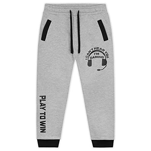 CityComfort Pantaloni Tuta, Pantaloni Sportivi Bambino 5-16 Anni, Gaming Merchandise (Grigio Pantalone, 15-16 Anni)
