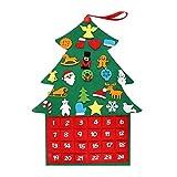 Bricolaje Apliques de Navidad Calendarios de Adviento Grande Fieltro Tela árbol de Navidad Calendario de Navidad con Bolsillos de Año Nuevo la decoración del hogar (Color : Deep Sapphire)