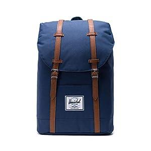 41yRskDJfbL. SS300  - Herschel Retreat Backpack - Mochila casual unisex, Azul (Navy), 19.5 L