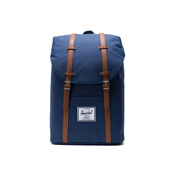 41yRskDJfbL. SS600  - Herschel Retreat Backpack - Mochila casual unisex, Azul (Navy), 19.5 L