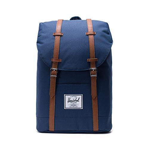 Herschel Retreat Backpack - Mochila casual unisex, Azul (Navy), 19.5 L
