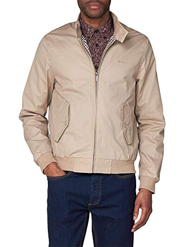 Ben Sherman Men's Classic Harrington Blouson Jacket Sandy Beige X-Large