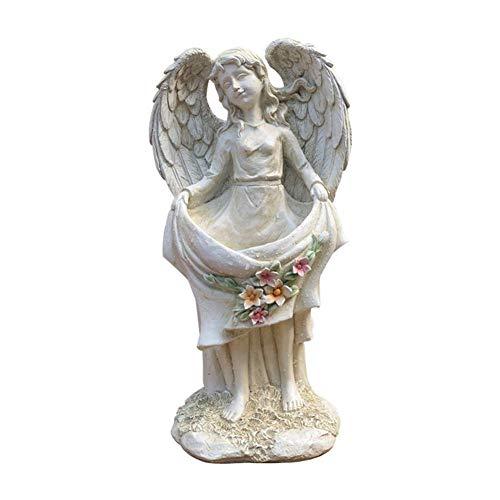 Ybzx Gartenblume, Engelsblumen-Skulptur-Hof-Retro-Mädchen-Modell-Landschafts-Garten-Pflanzer-Rasen-Layout
