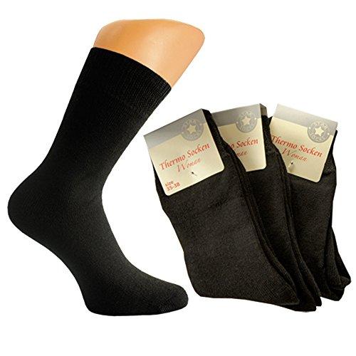 Art-of-Baan 5511 6 Paar Thermo Damen Socken schwarz Größe 39-42