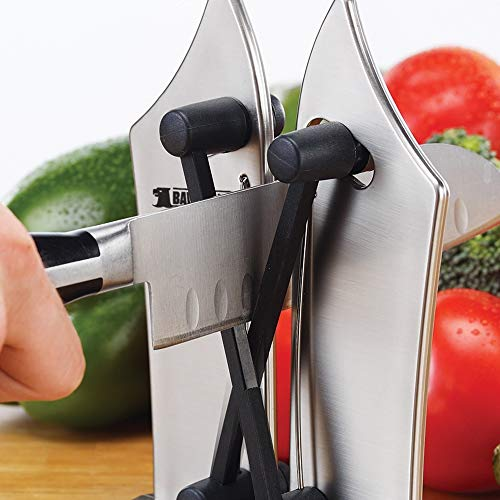 Mediashop Bavarian Edge Messerschärfer – Messerschleifer für alle Messer inklusive Sägemesser – nie Wieder Stumpfe Messer mit dem Messerschärfer Profi aus Wolframkarbid - 5