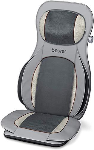 Beurer MG 320 Shiatsu Massagesitzauflage, für Rücken, Nacken und Oberschenkel, zusätzliche Luftkompressionsmassage, Licht- und Wärmefunktion