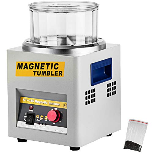 VEVOR Mini KT-185 magnetische Tumbler 180 mm, Schmuck Poliermaschine und Finisher Maschine mit guter Zeitfunktion, schneller Verarbeitungsgeschwindigkeit für Leichtmetall, Nichteisenmetalle, 2000 RPM