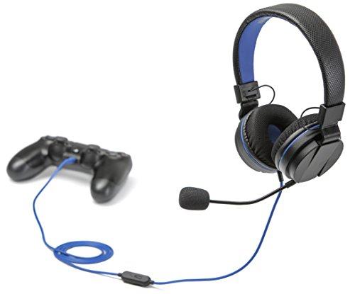 snakebyte PS4 HEADSET 4 – Playstation 4 Stereo Gaming Headset mit Mikrofon PS4 / PS4 Slim / PS4 Pro, 3,5mm Audio Stecker, kompatibel mit PC, XBOX, VOIP, Telefonkonferenzen, VideoCall, Skype, Zoom